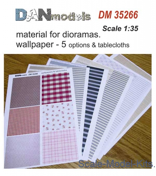 Material for dioramas. Wallpapers, 5 options and tablecloths