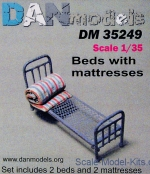 DAN35249 Military beds with mattress, 2pcs