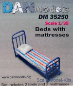 DAN35250 Military beds with mattress and pillow, 2pcs