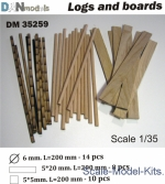 DAN35259 Logs and boards for dioramas #2