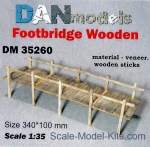 DAN35260 Material for dioramas: footbridge wooden