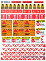 Paper material for diorams. Zone of clearance. Fencing tapes, warning signs