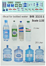 DAN35311 Decal for bottled water, 14 pcs