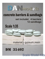 DAN35402 Concrete barriers and sandbads 1/35