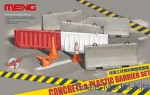 MENG-SPS012 Set of concrete and plastic guardrails