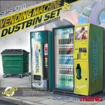 MENG-SPS018 Vending Machine & Dumpster Set