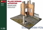 MA36028 Village diorama with fontaine