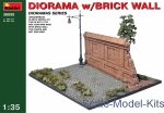 MA36055 Diorama with brick wall