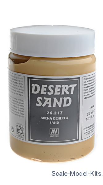 Vallejo - Earth effects, Desert Sand, 200 ml - plastic scale model